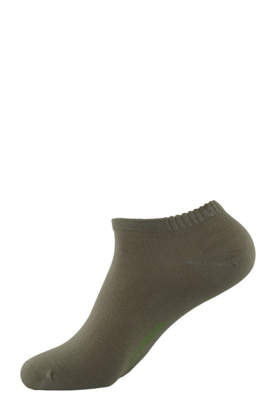 """Chaussettes sneakers beiges """"bambou"""""""