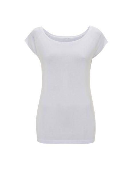 Damen T-Shirt Bambus weiss