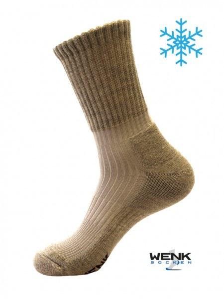 Chaussettes d'hiver bambou laine beige