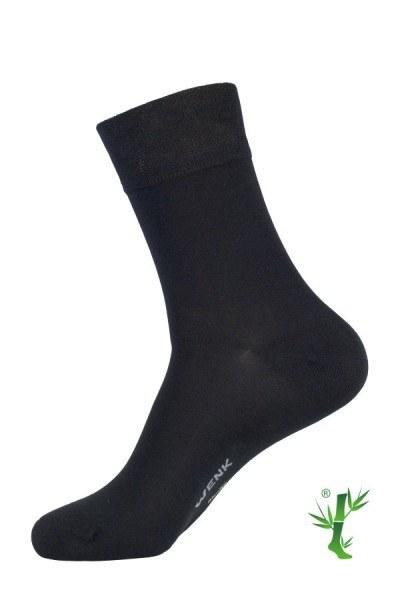 schwarze Socke Bambus